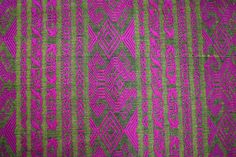 Yellow, Pink and black cotton weaved textile from the heart of San Cristobal de las casas.