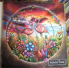 Inspirational Coloring Pages by Natalie Tame. #MagicalJungle #JohannaBasford