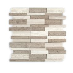 This will be the Accent Trim going vertically in the Mater shower then split into fourths and horizontally for edging on the large tile in the main bath--GBI Tile & Stone Inc. 1 Gray Linear Mosaic Natural Stone Marble Wall Tile (Common: x Actual: x Mosaic Wall Tiles, Marble Mosaic, Stone Mosaic, Marble Wall, Gray Polish, Fireplace Wall, Shower Floor, Color Tile, Mosaic Patterns