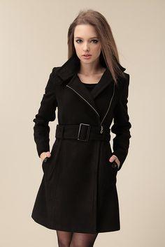 Korean Slim Long woolen coat