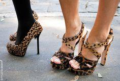 animal print, la moda, los pies, las niñas, tacones, tacones altos