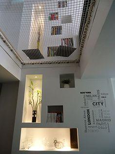 filet de sécurité de qualité pour vide sur sejour Interior Exterior, Interior Architecture, Lofts, Home Projects, Sweet Home, New Homes, Lounge, House Design, House Styles