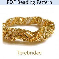 flat spiral stitch bracelet - Google Search