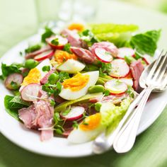 Low-Carb Ham, Egg and Cress Salad prima.co.uk