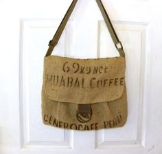 Peru Huabal Coffee bag upcycled cross body by LoriesBags on Etsy