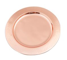 Rose Gold hued Copper Hammered Charger Plates on Alchemy Fine Home