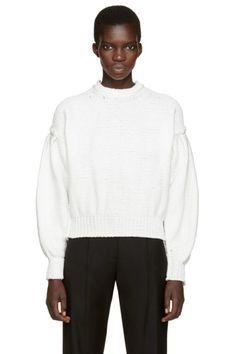 Grey Ruffle Swan Sweater