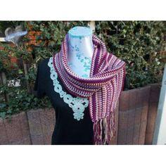 Sjaal Violet met franjes