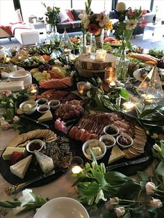 Love this beautiful grazing table that Jessemy and Joel enjoyed for their wedding. Grazing Tables, Wedding Receptions, Table Settings, Table Decorations, Inspiration, Furniture, Beautiful, Home Decor, Biblical Inspiration