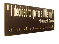 running medals display Forrest Gump by runningonthewall on Etsy