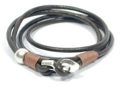 anchor leather bracelet * women anchor bracelet * double wrap bracelet * anchor jewelry * nautical bracelet * anchor clasp * gifts for her