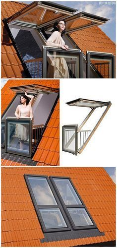 Dream home loft window The handmade DIY Interior DIY manual balcony clever use of space, the windows easily change balcony ~ Attic Rooms, Attic Spaces, Small Spaces, Attic Apartment, Attic Bedroom Kids, Men Apartment, Attic Playroom, Attic Bathroom, Dream Bedroom