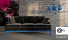 """Designed from the school of badassery! Meet """"Theo"""", he comes in 10 hot colors! #couch #sofa #color"""
