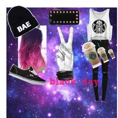 black day by noemi-carrasco on Polyvore featuring moda, J Brand, Vans, Pieces and Valentino