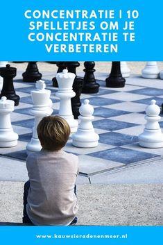 De concentratie verbeteren van je kind is met deze 10 leuke en  uitdagende spelletjes eenvoudig. Welk concentratiespelletje is jouw  favoriet? Adhd, Om, Coaching, School, Training, Schools, Life Coaching