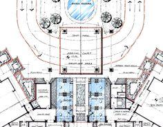 Work at WATG, Trump at Cap Cana, Hotel Lobby Plan by M. F. Lamarche, via Behance