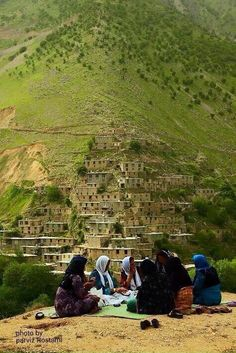 Kurdish Women enjoying each others' company in a village in the Hewraman region of Kurdistan, Iran. Photo by Parviz Rostami