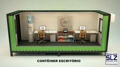 Projeto Contêiner 2/4 - Maquete eletrônica desenvolvida para a empresa Planotopo. #maqueteslz #3d #maqueteeletrônica #containe