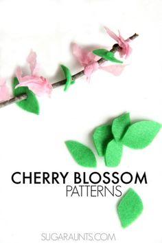 Sweet DIY Cherry Blossom Patterns To Practice Motor Skills | Kidsomania