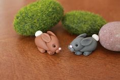 Bunny++Polymer+Clay+++Terrarium+Accessory++Fairy+by+GnomeWoods                                                                                                                                                                                 More