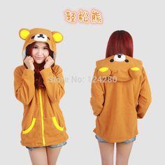 Aliexpress.com : Buy Anime women hoodie jacket Rilakkuma Relax bear women girls sweatshirt Winter Warm coat hoodie with ears tail eyes Adults party from Reliable hoodie jacket for sale suppliers on MordenPatrizia Fashion_Trend  | Alibaba Group