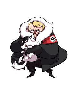 Random nazi by BattlePeach on deviantART: figures that he would have a cat..
