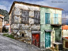 Paleochori by Stratis Axiotis Old Houses, Greece, Relax, Explore, Country, Photographs, Greece Country, Rural Area, Old Homes