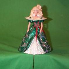 1996 HOLIDAY BARBIE GREEN - STOCKING HANGER | Hallmark Ornaments