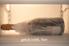If you wrap a wet paper towel around a bottle of beverage and put it in the freezer, it cools down really fast.