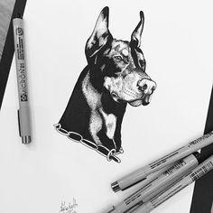 [ Avoir du chien ] • @sickmybeat • Pour me contacter lildotart@gmail.com, sur Etsy (lien direct dans ma Bio), ou encore sur Facebook • #love #draw #drawing #instadraw #instaart #art #artdrawing #artstagram #dot #dotwork #linework #dotlines #blackwork #tattoo #doodle #sketch #illustration #blackandwhite #lifestyle #lildotart #annabellejsc #dog #instadog #doberman