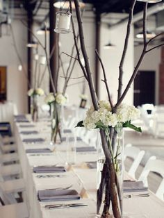 Thinking of a Rustic wedding? Here are 15 Rustic Wedding Centerpieces for some inspiration.