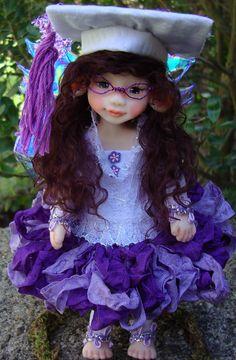 a graduation fairy. OOAK Fairy by J. Pollard https://www.facebook.com/pages/J-Pollard-Creations/268066609904064