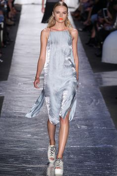 Digging this diaphanous frock from Rag & Bone. Can see it equally with strappy heels or -- in true 90s fashion -- beat-up Doc Martens. #ragandbone #nyfw #spring2014