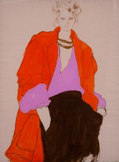 Fashion Illustration | From a unique collection of paintings at https://www.1stdibs.com/art/paintings/