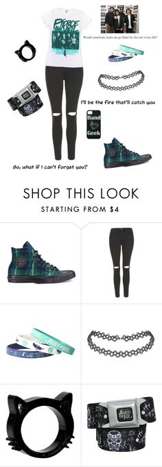 """Pierce the Veil"" by all-time-reckless ❤ liked on Polyvore featuring Converse and Topshop"