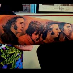 Amazing portrait of The Beatles. Tattooed by Richard Hart @ Art Addiction Tattoo in Baton Rouge, La