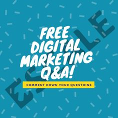 Find all your answers to your Digital Marketing questions here at FREE DIGITAL MARKETING Q&A! You only need to comment down your question, Answer will be served to you. Don't forget to like our page for further exciting things like this. Content Marketing, Internet Marketing, Online Marketing, Social Media Marketing, Digital Marketing, Mobile App Development Companies, Web Development Company, Delhi Ncr, S Mo