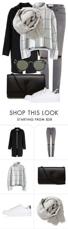 """""""Untitled #2256"""" by annielizjung ❤ liked on Polyvore featuring Acne Studios, Frame, Chicwish, Yves Saint Laurent, Topshop, Brunello Cucinelli and Ray-Ban"""