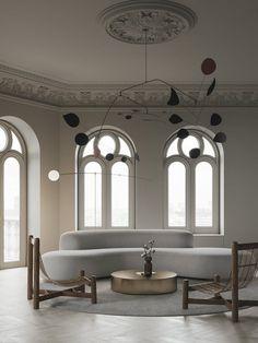 Stylish beige concept apartment