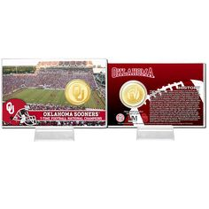 Oklahoma Sooners Collectible 4'' x 6'' Football Coin Card - $15.99