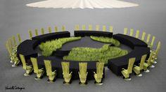 GARDEN. Creative director for the APEC Economic Leaders' Welcome Dinner Kenneth Cobonpue transforms the MOA Arena into a garden. Photo courtesy of Kenneth Cobonpue