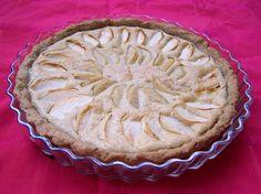 appel-peer frangipane taart, suikervrij, veganistisch, zonder melk en ei