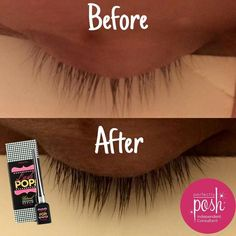 Want GREAT lashes? Try Perfectly Posh Lash POP results - reviews - Minttoposh - long and thick lashes