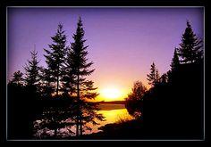 spring sunset- Shagawa Lake  Ely, MN