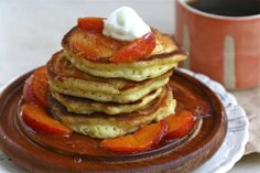 Peaches N' Cream Pancakes