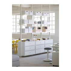 Freshen up your home with ELVARLI 3 sections, white. ELVARLI storage system adapts to your space. The open solution with durable bamboo shelves creates an attractive display of your belongings. Elvarli Ikea, Ikea Portugal, Bamboo Shelf, Ceiling Materials, Muebles Living, Honeycomb Paper, Painted Drawers, Decorating With Pictures, Decoration Pictures
