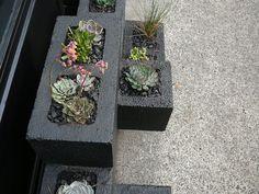 DIY with cinder blocks | cinder block planter detail 1 - saf affect