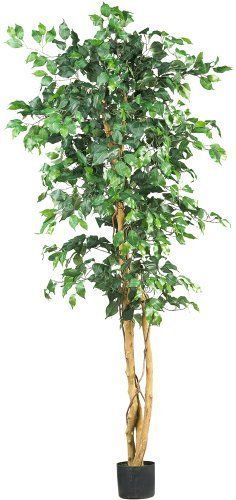 New Silk Ficus Artifical tree indoor outdoor home office decor 6 feet potted  #NearlyNatural