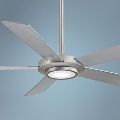 "52"" Minka Aire Sabot Brushed Nickel LED Ceiling Fan"