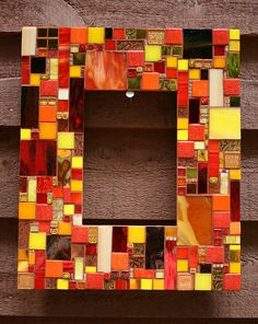 mosaic picture frame | mosaic frames class grazyna s mosaic she has better pictures posted ...